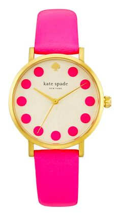kate spade pink metro dot watch
