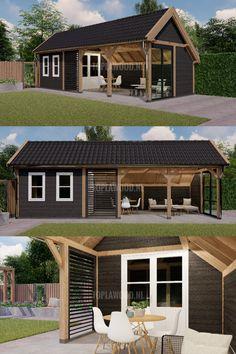 Backyard Pavilion, Backyard Gazebo, Backyard Patio Designs, Diy Patio, Backyard Storage Sheds, Backyard Sheds, Garden Shed Interiors, House Cladding, Backyard Kitchen