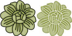Silhouette Design Store - View Design #26957: flower