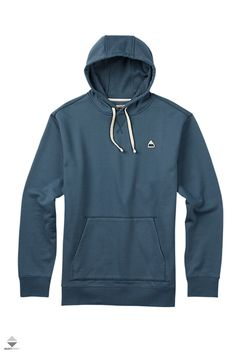 Burton Roe Pullover Hoodie - 2017 Cotton, Polyester French Terry Fleece Patch-On Kangaroo Pocket Rib Cuffs and Hem Drawcord Hood Classic Fit Snowboarding Outfit, Gear S, Burton Snowboards, Mens Sweatshirts, Pullover, Hoodie, Nike Jacket, Men Sweater, Mens Fashion