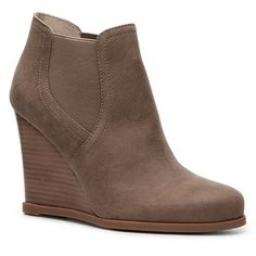 Audrey Brooke Cindy Wedge Bootie Only worn once, comfortable and oh-so-trendy wedges. You will love them, I got so many compliments - I have another pair and wear them all the time! Audrey Brooke Shoes Ankle Boots & Booties
