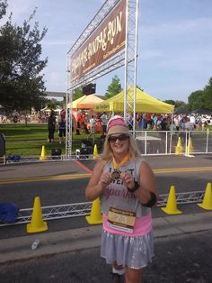 The Chocolate Run Sanford Florida 2014 I got my medal!!!! Did 14 min miles!!!