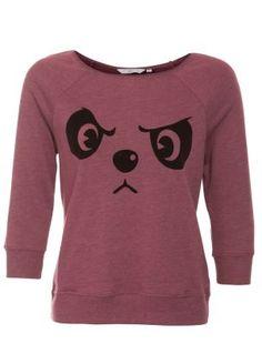 Newlook:Dark Red Grumpy Panda Sweater £10