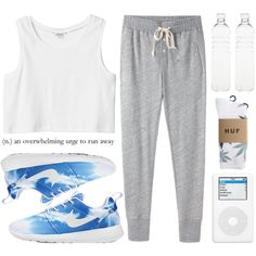 lets go jogging pt. 2 by aria-97 on Polyvore featuring polyvore, fashion, style, Monki, Steven Alan, HUF, Seletti and NIKE