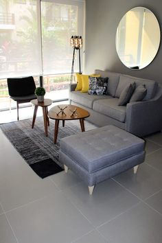 54 Best Modern Small Living Room Decoration And Design Ideas ~ Ideas for House Renovations Small Living Room Design, Living Room Grey, Small Living Rooms, Interior Design Living Room, Home And Living, Living Room Designs, Living Room Decor, Interior Livingroom, Cafe Interior