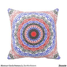 Abstract Circle Pattern Throw Pillow