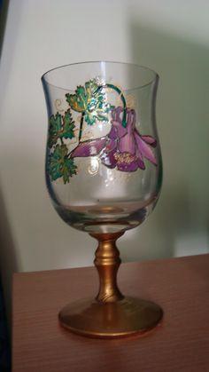 Čaša Glass painting Mirjana Selena