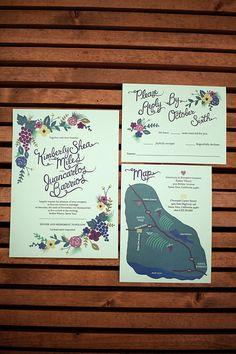 wine country wedding invites