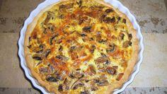 quiche aux champignons et poireaux WW, recette d'une délicieuse quiche légère, facile et simple à réaliser pour un repas léger ww.