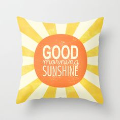Morning Sunshine Throw Pillow by Tayler Willcox - $20.00