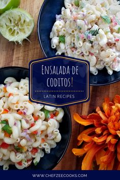 Ensalada de Coditos is a Macaroni Salad that you can make a variety of different ways. In fact, I make two different… Thanksgiving Recipes, Holiday Recipes, Dominican Food, Dominican Recipes, Mexican Food Recipes, Whole Food Recipes, Macaroni Pasta Salad, Pasta Recipes, Cooking Recipes