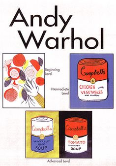 "Warhol Art Projects for Kids:  The ""Prince of Pop"" artist, Andy Warhol, excites the children as they view his bright colors and simple shapes of everyday, popular items of the 1960's.  His most famous artwork, Campbell's Soup Cans, along with other masterpieces, inspire the children to create their own version of ""Pop Art."""