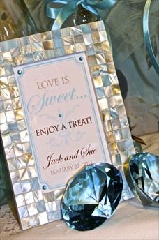 Candy Buffet or Dessert Station sign in Tiffany Blue!