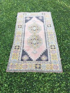 "Tribal Caucasian Medallion Pattern Vintage Wool TURKISH OUSHAK RUG 3'9''x6'11"" | Antiques, Rugs & Carpets | eBay!"