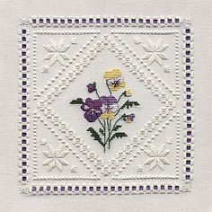 Pansies Hardanger Kit by Sarah May Designs for Classic Embroidery