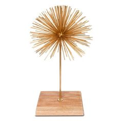"Threshold™ Sea Urchin Figurine on Stand - Gold (14"")"