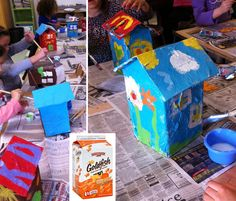 Art Projects for Kids: Paper Mache Houses