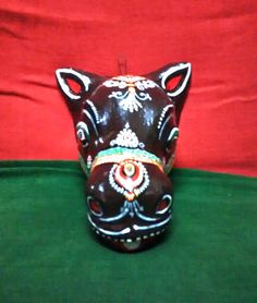 A beautiful handcrafted papier mache mask of a by PattachitraNet