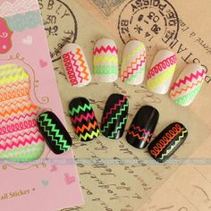New 3D Colorful Nail Art Tips Polish Sticker Decal Wraps Acrylic DIY Decoration #NEW