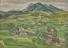 Ernest Zmeták: Rozsutec zo Zázrivej:1956 Heart Of Europe, Folk Art, Modern Art, Graphic Design, Illustration, Artist, Nature, Paintings, Country