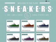Moonfruit Template - Sneakers #website #design
