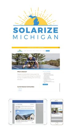 We recently worked with #SolarizeMichigan, a local effort to minimize the costs of at-home solar energy using bulk buying competitive bidding, and community education.   The Solarize campaign was founded in #Portland, #Oregon in 2010 and has already found success in several states. We were thrilled to be a part of their first efforts in #Michigan!