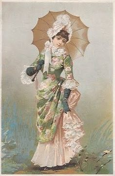 Victorian fashion ephemera