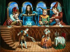 """Family portrait based on """"Art Of Diplomacy"""" composition 30""""x40 oil on canvas - 2010...Michael Cheval photographer"""