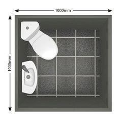 A 1.0m x 1.0m cloakroom utilising a corner WC and slim basin.