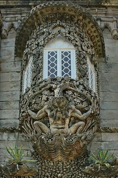 Amazing window at Triton at Palácio da Pena, Sintra, Portugal (by Mr.Enjoy).