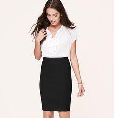 Every woman needs a black pencil skirt.