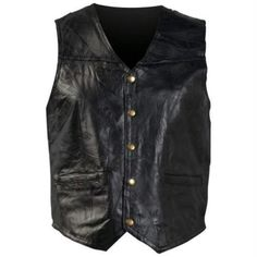 Jackets and Vests 179827: Giovanni Navarre® Italian Stone™ Design Genuine Leather Vest -> BUY IT NOW ONLY: $38.27 on eBay!