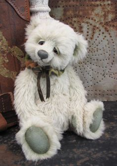 "Potbelly Bear •Lucky• A 14.5"" OOAK Mohair Teddy Bear by Shelli Heinemann Quinn 