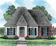 Madden Home Design - Acadian House Plans, French Country House Plans Acadian House Plans, French Country House Plans, Southern House Plans, French Country Bedrooms, New House Plans, Country French, French Style, French Open, Southern Homes