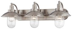 Minka Lavery (5133-84) Downtown Edison Collection 3 Light Bath Vanity Fixture shown in Brushed Nickel