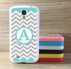 Monogram Samsung Galaxy S4 Case Geometric Galaxy S3 Case Covering skin Mint fonts Samsung Galaxy S3 s4 Gear Phone holster Personalized Cover