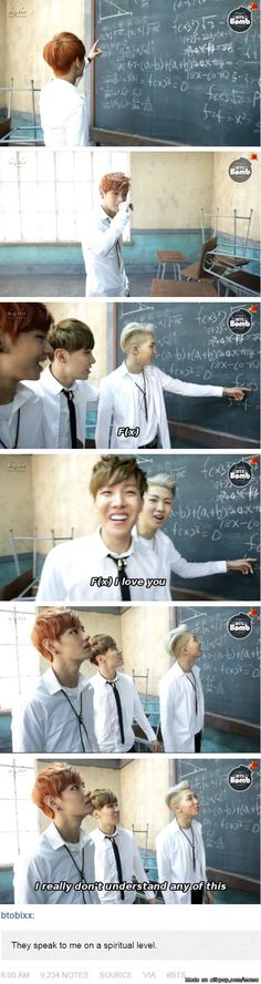 this is me in math class... don't know anything!! thank you for this am not a lone :D #bts  This. XD