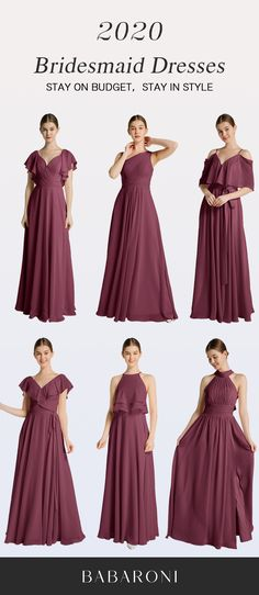 SKU:Hundreds Available Price:Under $99.00 Color:Mulberry Size:AllSizesAvailable These full-length dresses are made of chiffon and in great quality, which makes you look elegant. #babaroni #bigsale #2020wedding #weddinginspiration #wedding #wedding #weddings #weddings #weddingdress #weddingdresses #bridalgown #bridesmaid #bridesmaiddress #bridesmaidgown #bridesmaidgowns#bridesmaiddrsses #chiffondress #longdress #dreamdress #longgown Homecoming Dresses, Bridesmaid Dresses, Wedding Dresses, Chiffon Rock Lang, Brides Maid Gown, Mulberry Color, Maxi Robes, Chiffon Gown, Bustier