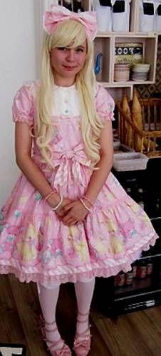 Brolita boy dressed like a girl.