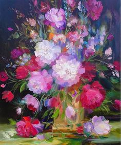 pinturas-decorativas-de-flores-en-oleo-y-espatula