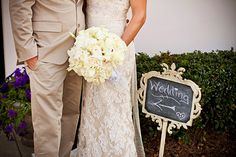 Bride and Groom - White Spring Garden Tampa Wedding Bouquet - The Palmetto Club | by Jerry McGaghey  from wedding blog MarryMeTampaBay.com
