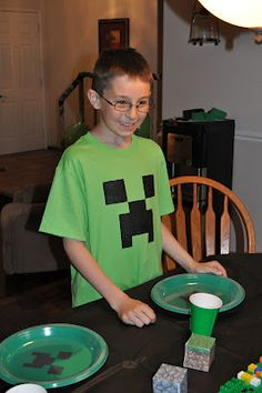 Minecraft party!  I have a feeling I might need to do this for Zach someday
