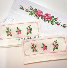 Crossstitch rose  towels Instagram / madebyigneiplik