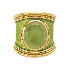 enamel and gold ring Elizabeth Gage