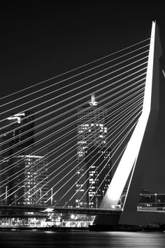 Bridge @ night, in black and white by MvH Fotografie on 500px