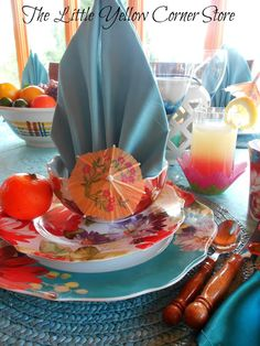 The Little Yellow Corner Store: A Tropical Paradise Tablescape