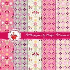 free printable scrapbooking paper dala horse. Click on link to download free paper. http://dansmonbocal.com/tag/noel/page/2/