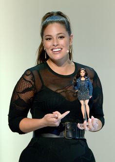 Graham was gifted her doll at the Glamour Women Of The Year Summit. | Barbie Just Made An Ashley Graham Doll That Matches Her Measurements