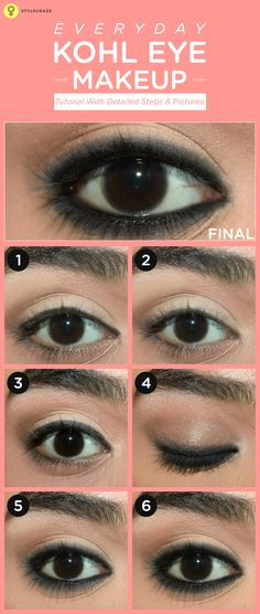 We women love to jazz up our eyes to look sexy and gorgeous. But, for most, eye makeup is limited to using kajal. Anything more is too much for many women. Today, I have created a simple yet pretty kohl rimmed eye makeup, which will work perfectly with any skin tone.  #eyemakeup
