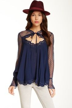 Black Magic Blouse by Free People on Trendy Outfits, Cute Outfits, Fashion Outfits, Love Fashion, Womens Fashion, Lace Tops, Dress Me Up, Blouse Designs, Designer Dresses